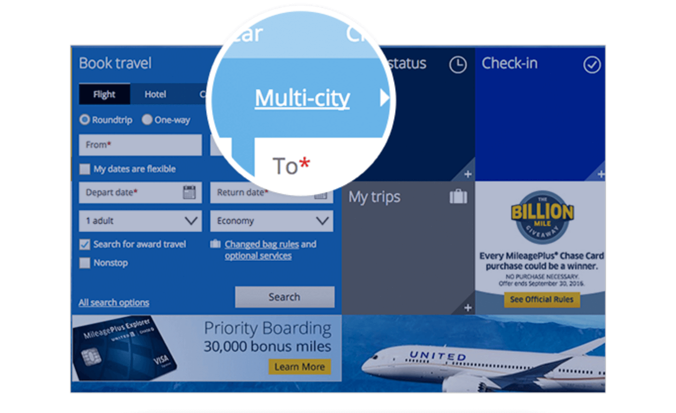 Multi-City Booking Soon Available with United Airlines Points