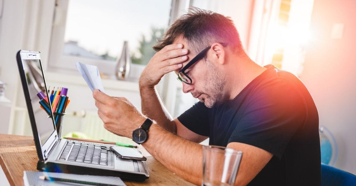 worrying over business debt
